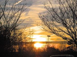 sunday's sunset, from grocery car park